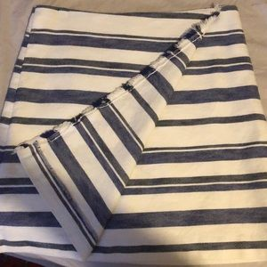 LOFT Skirts - Loft blue and white striped faux wrap skirt.